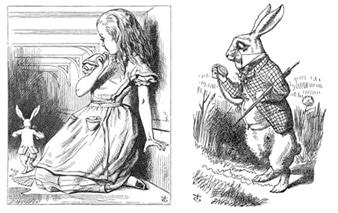 A queda livre de Alice no País das Maravilhas